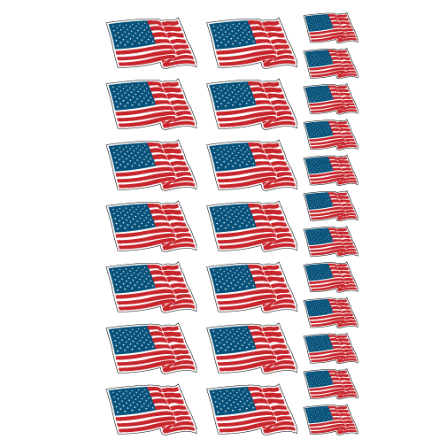Flag Decals Sign