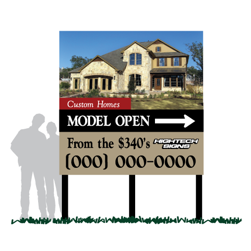 Model Home Community Sign