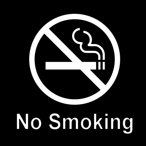 No Smoking Decal Sign