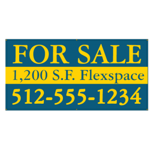 For Sale Banner with Phone Number