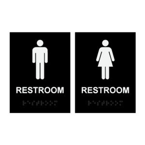 Mens Womens Restroom Signs