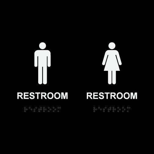 Mens Womens Restroom Signs