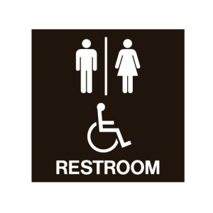 Men's and Women's Layered ADA Restroom Sign