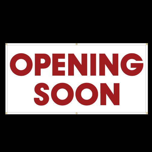 Opening Soon Banner Austin Tx Hightech Signs