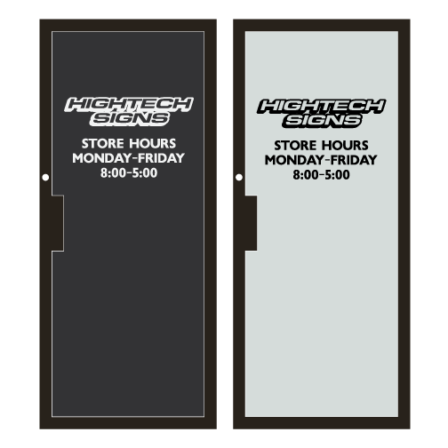 Store Hours Decal Signs