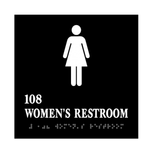 Women's Restroom Acrylic ADA Sign