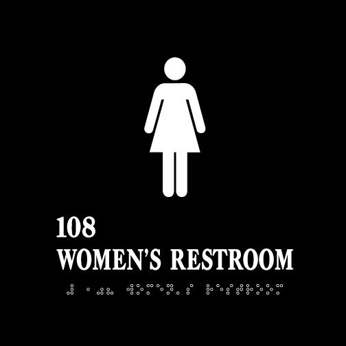 Women's Restroom Acrylic ADA Sign