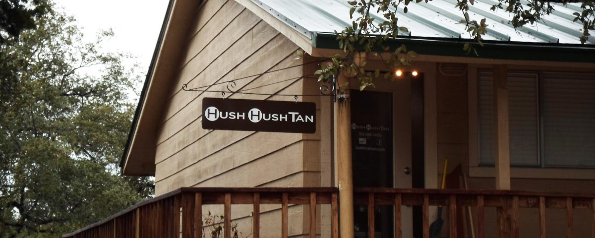 Hush Tan Exterior Flag Sign by Hightech
