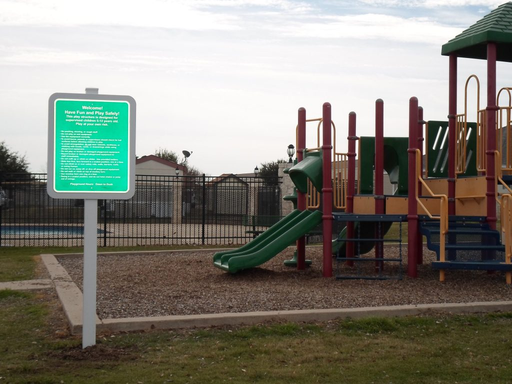 Reflective Playground Rules Sign Austin Tx Hightech Signs