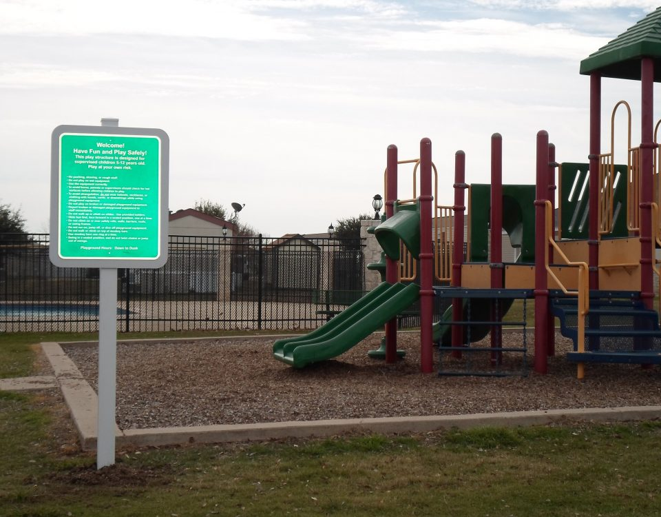 Reflective Playground Rules Sign by Hightech Signs