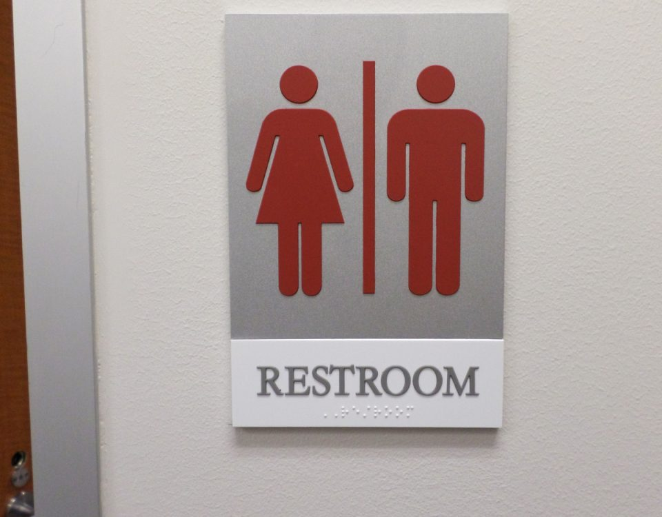 Unisex Restroom ADA Sign by Hightech Signs