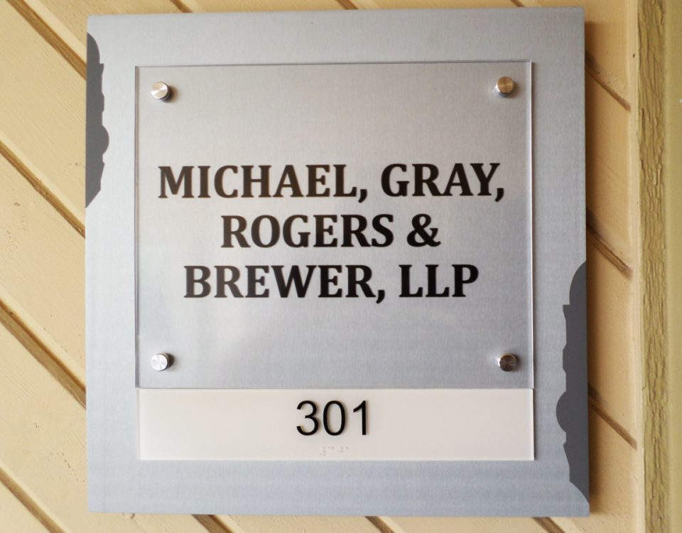 Interior Suite Plaque by Hightech Signs