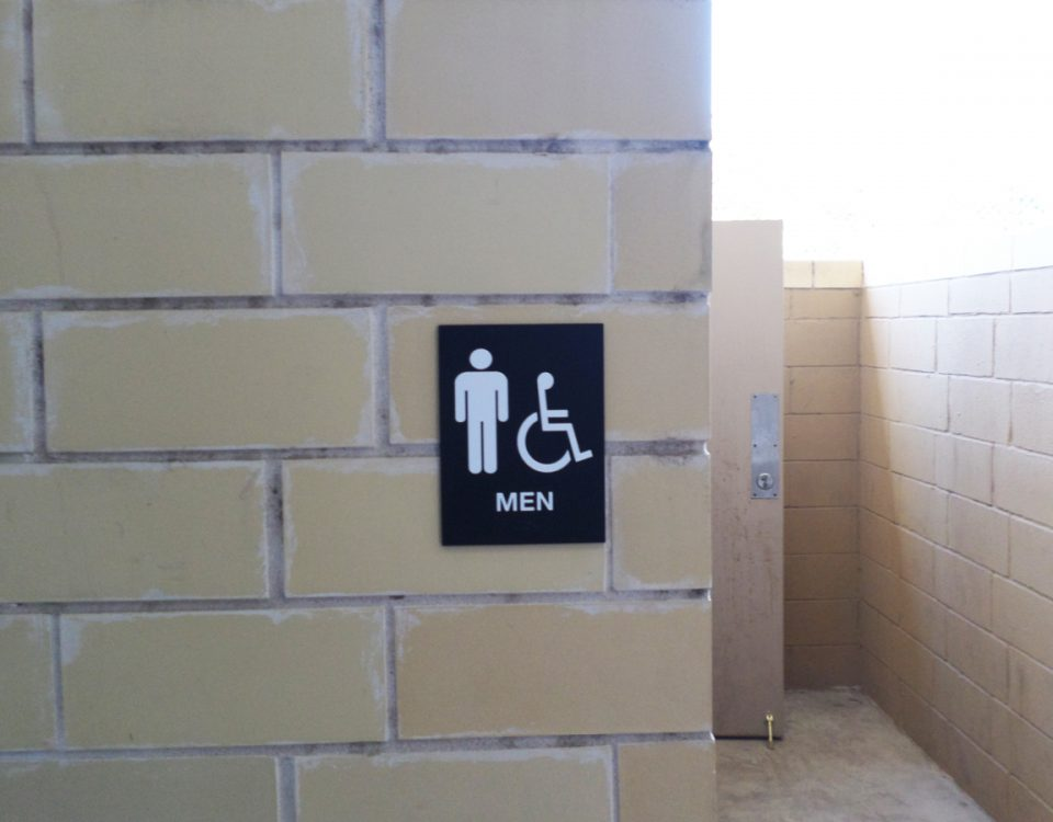 Men's Restroom Sign by Hightech Signs