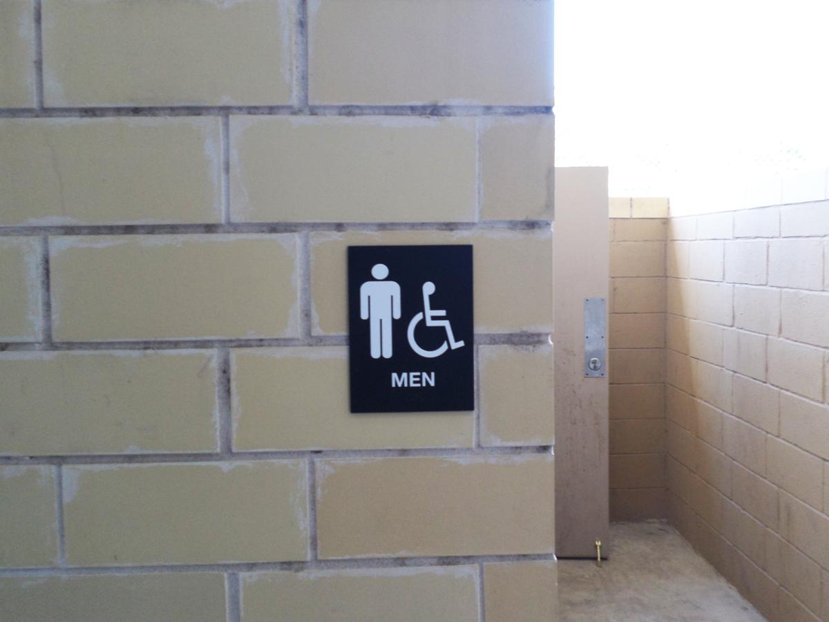 Mens Restroom Sign Austin Tx Hightech Signs