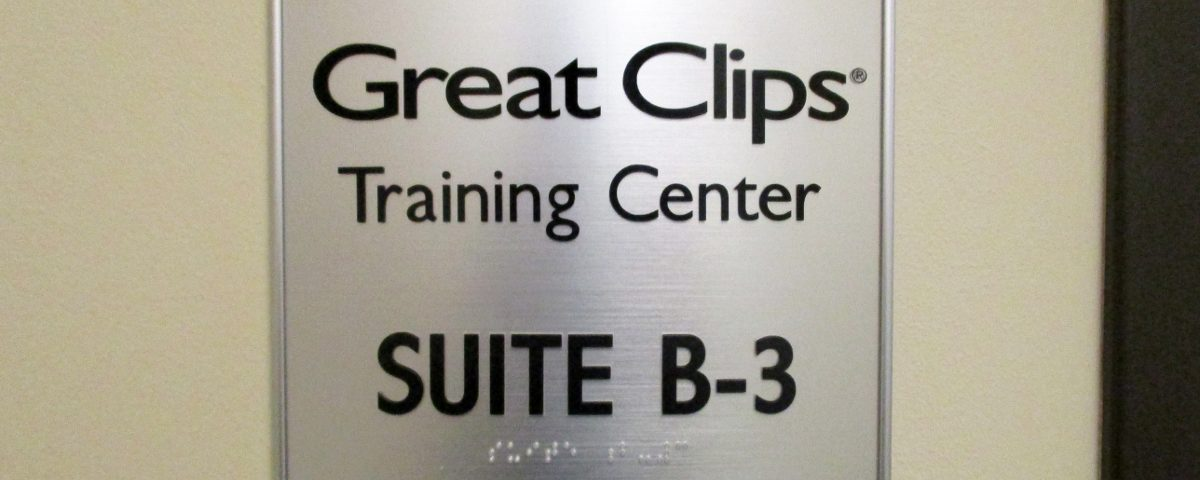 Great Clips Arched Suite Plaque by Hightech Signs