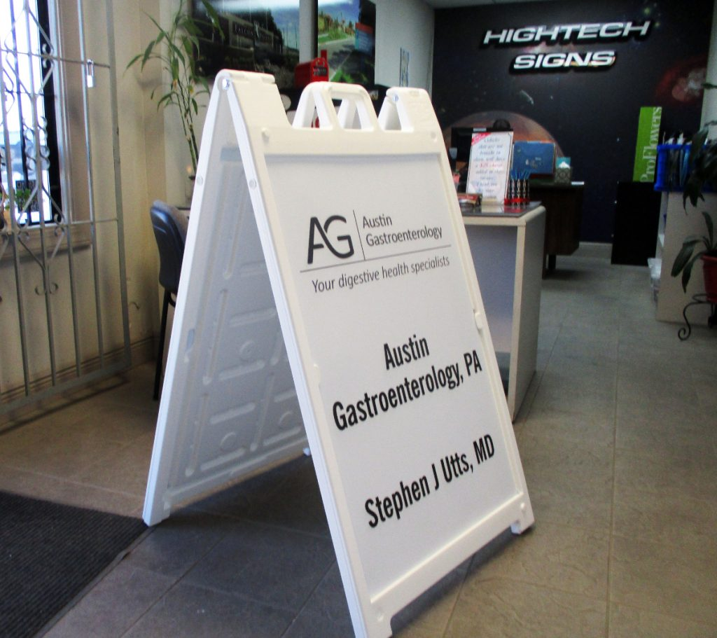 Signicade A-Frame Sign | Austin, TX | Hightech Signs