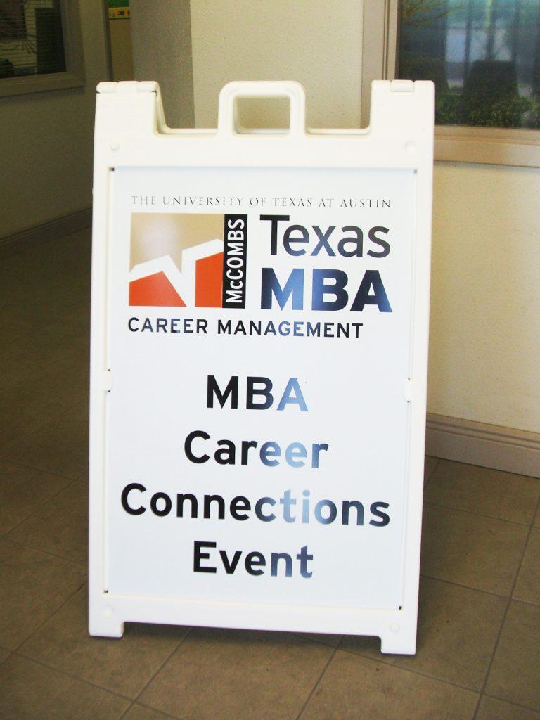 McCombs Texas A-Frame Sign | Austin, TX | Hightech Signs