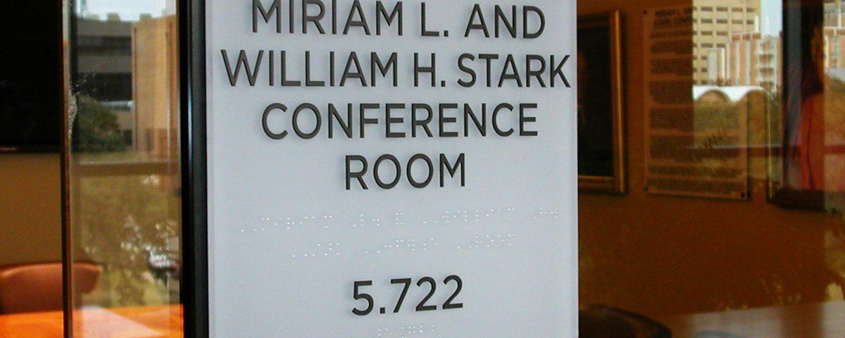 Stark Center ADA Sign